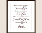 The Miracle of Love quote - Customizable 8x10 Print in Many Colors