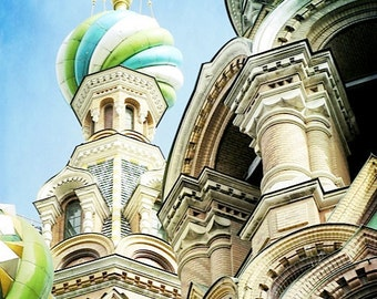 Whimsical Onion Domes of St. Petersburg Russia- 8x10 Fine Art Photograph