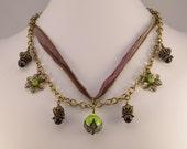 Bollywood Purple Lotus Necklace