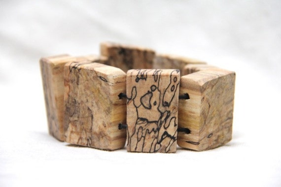 wilma - natural wood bracelet in spalted maple