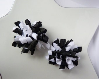 black and white mini korkers - set of two