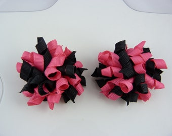 hot pink and black mini korkers - set of two
