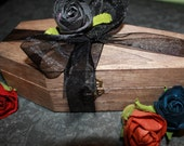 Wooden COFFIN Gift Box with Spanish Moss - Add on