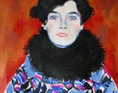 Portrait of Johanna Staude after Gustav Klimt
