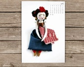 DIY Printable 2013 Calendar by Dedalos - Art Dolls