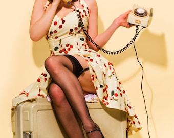 Cherries in Sunshine Pin-up dress