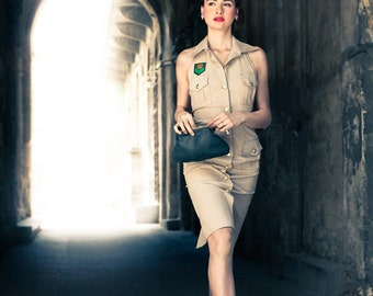 Safari Pin-up dress with hat