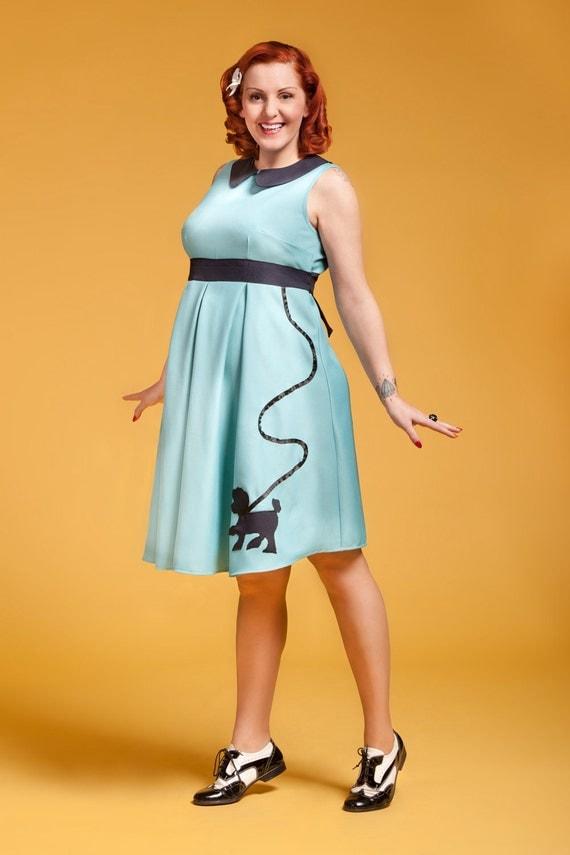 Rockabilly maternity dress / Poodle Mom