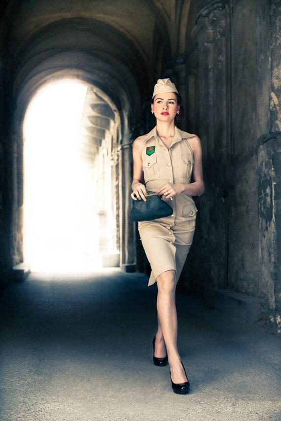 Safari Pin-up dress with hat