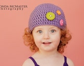 The Button Beanie - 1 - 4 years - Made to order