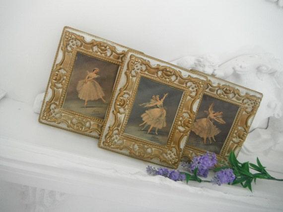 shabby chic ballerina prints wondura frames picture frames gilt frames french country old world