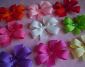 Pick 12 Small Hair Bows--29 Color Choices
