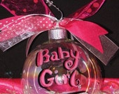 Baby Girl or Boy on the Way Christmas Ornament special order Megan M