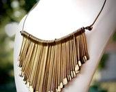 Vintage Gypsy Bohemian Handmade Brass Necklace or Choker