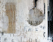 large abstract painting.  mixed media original art.  from memory.