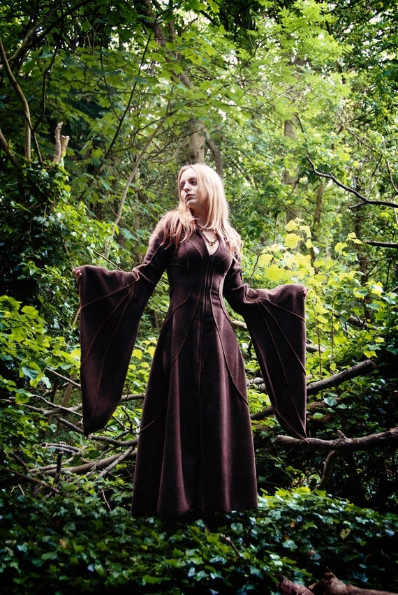 Floor Length Haunted Hawtin Coat... custom made... For the Fantasy Freak or Forest Faery in you