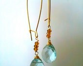 Faceted Aqua Blue Briolettes Accented with Faceted Beads