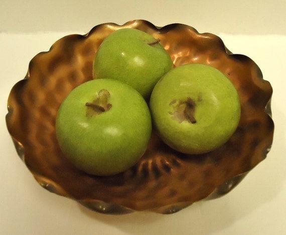 Vintage Gregorian Solid Copper Hammered Bowl 314