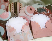 10 Scalloped Cute Valentines Day Envelopes for love notes and cards