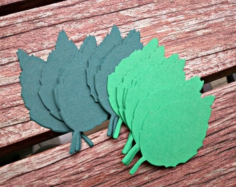 30 Large Leaf Die Cuts Perfect for cards, invitations, scrapbooking and weddings