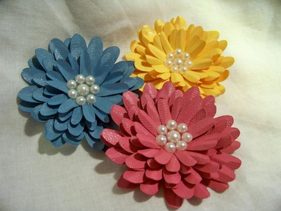 Handmade Gerbera Daisy Paper Flowers Wishing for Spring