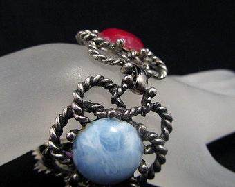 Dramatic Vintage Link Bracelet, ca. 1970s