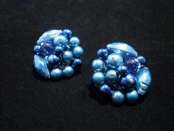 Striking Vintage 1950s Cluster Earrings