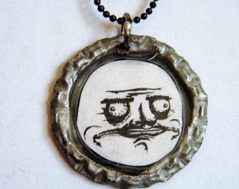 Me Gusta Bottlecap Pendant Necklace
