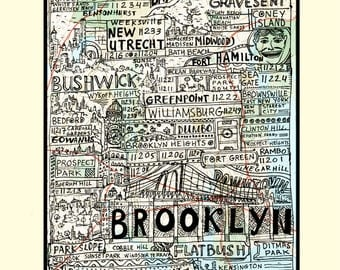 Brooklyn Boroughs Poster