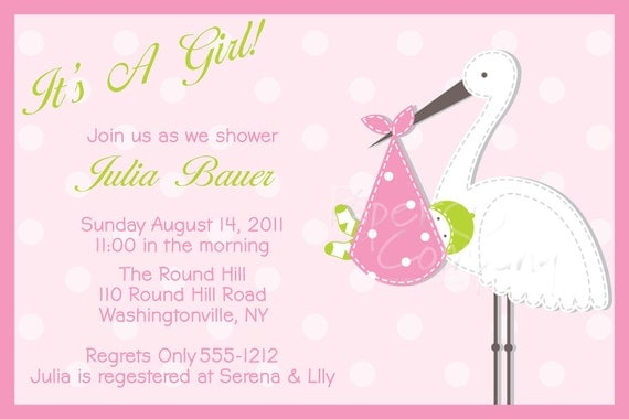 baby shower invitation baby registry card thank you card you print