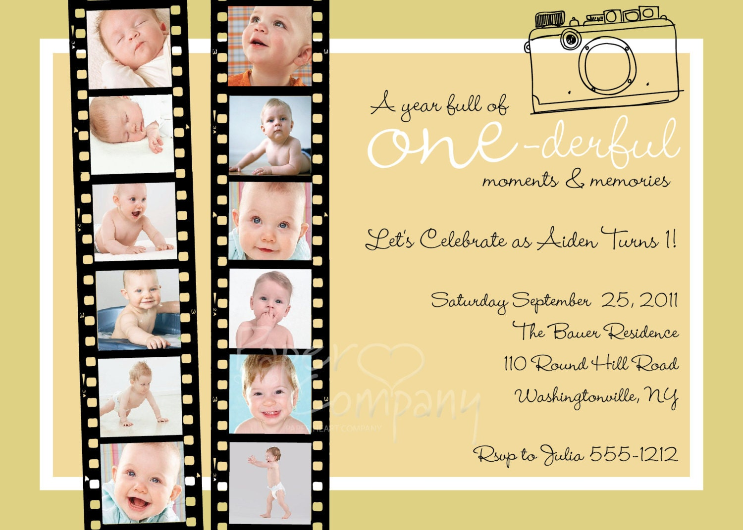 One Year In A Flash First Birthday Invitation Printable - Birthday invitation cards 1 year old boy