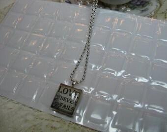 40 Hi Quality Scrabble Tile Epoxy Rectangles for Making Scrabble Tile Necklaces