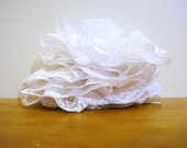 """Vintage 4"""" Wide White Lace Ruffle Trim 3 Plus Yards by VinTroGlamour"""