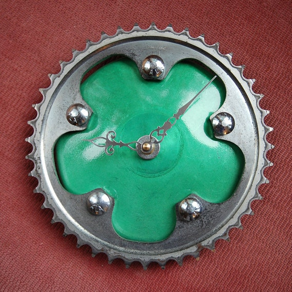 Green Machine Sprocket Clock