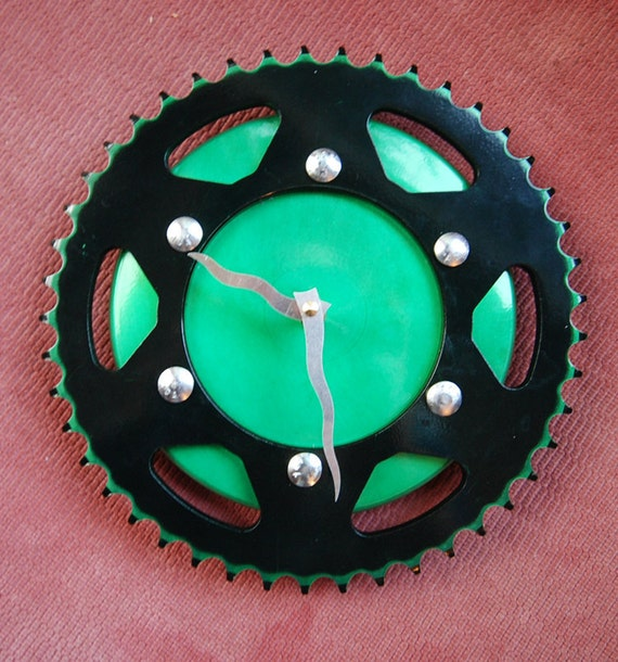 Mistletoe Green Motorcycle Clock