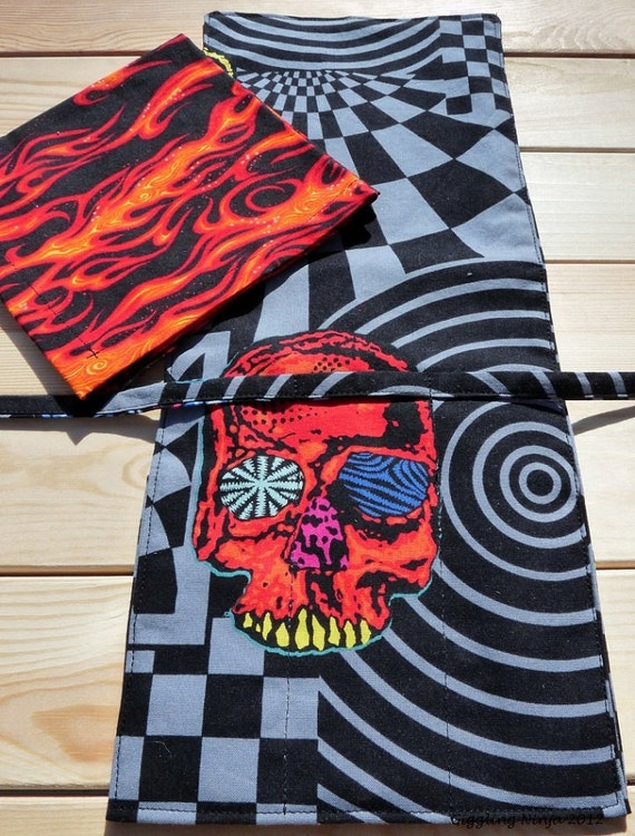 Head Trip 3 pocket Flatware Caddy and napkin Set