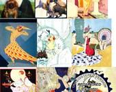 Digital Download ART DECO Women 4 Resizable Collag Sheet