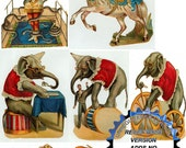 Vintage Circus Scap Art Images 2 Resizable Collage Sheet