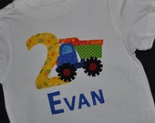 Custom appliqued Dump Truck shirt made to order
