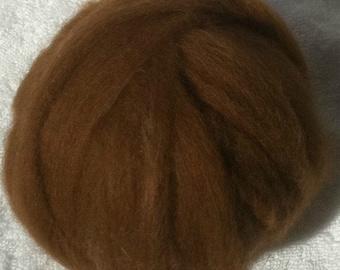 2oz Roving Lt Brown Alpaca Milk fiber Spin Felt Fiber