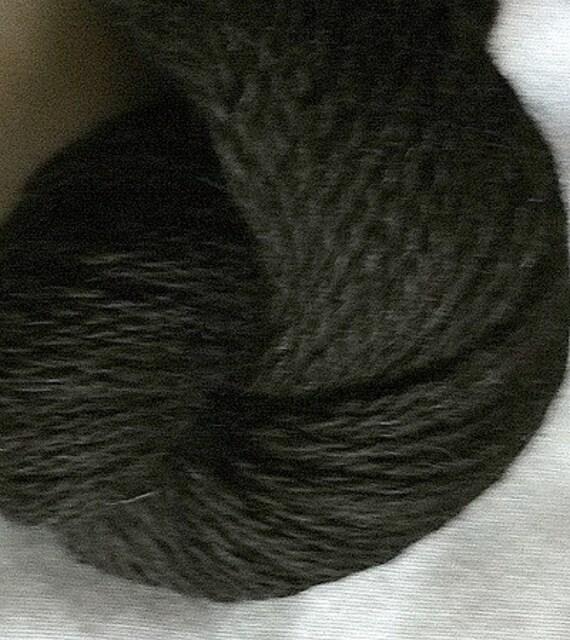 Black alpaca yarn 200 yds sports weight Colorado Knit Crochet Supply