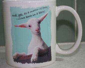 Humorous Saanen Kid Mug
