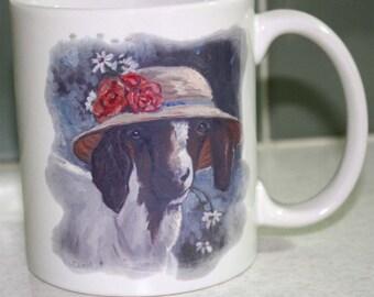 Cute Boer Goat in a Hat Mug