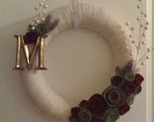 Custom Order for Raybelle0123-Roses and Cream with Monogram M