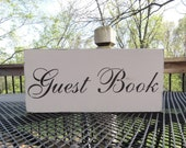 Guest Book Wedding Reception Party Table Sign Decoration