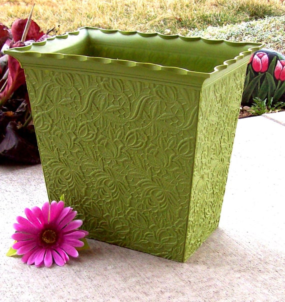 Max Klein wastebasket embossed lace design