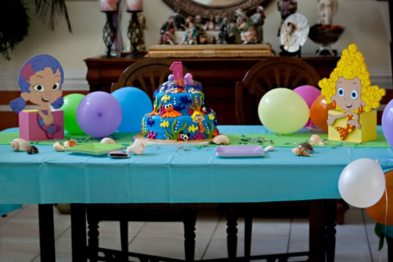 Items similar to bubble guppies centerpieces on etsy - Bubble guppies center pieces ...