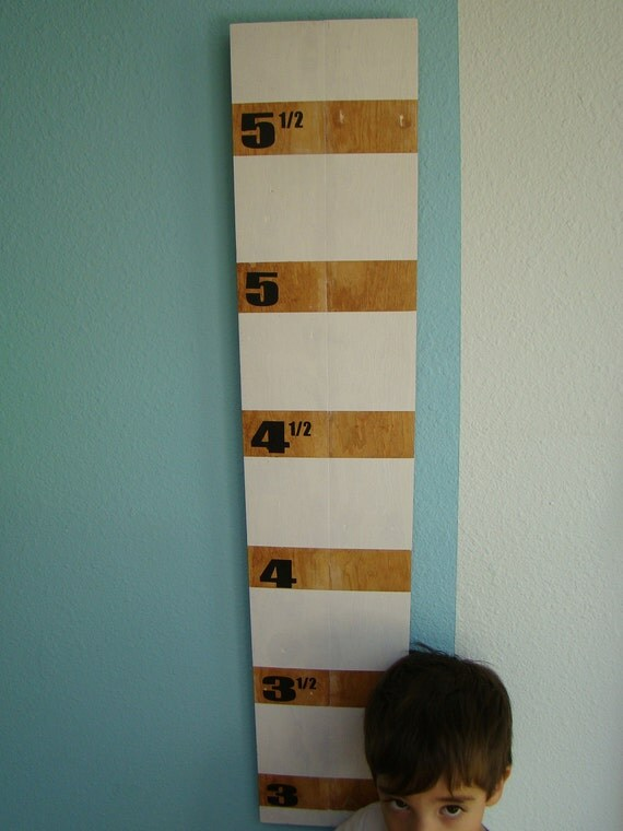 Rustic Wooden Children's Growth Chart