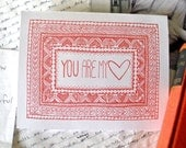 Valentine's Day Card- You Are My Heart