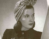 A Trio of Wind-ups (head scarves and turbans) c.1942 - vintage knitting crochet pattern PDF (404)